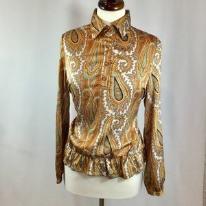 Solitaire retro inspired - paisley blouse